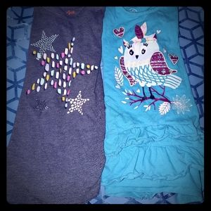 Size 6 Lot of 2 long sleeve tees